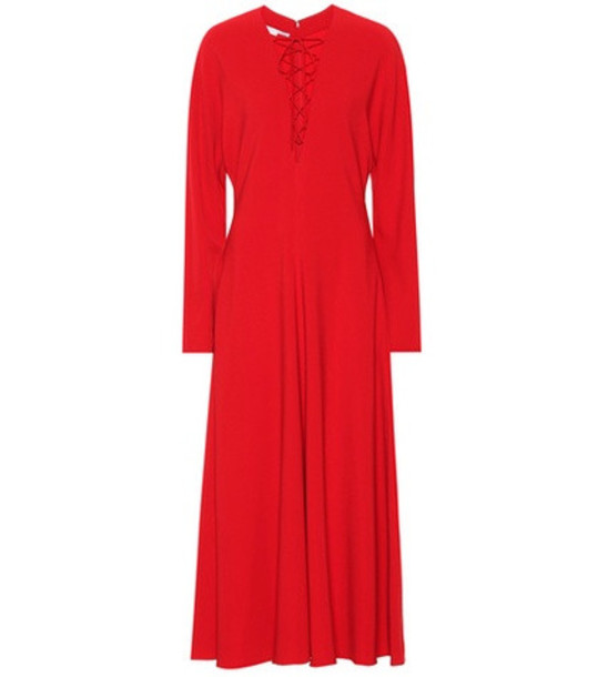 Stella McCartney Juliet stretch-cady dress in red