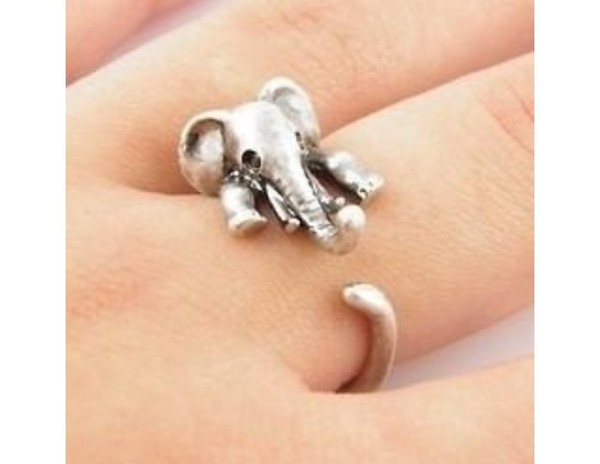 jewels elefant ring elephant sarah animal silver elephant hanging rings silver elephant ring cute éléphant