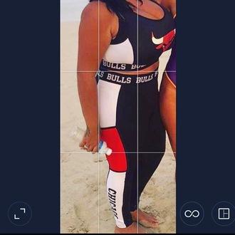 tank top nba chicago bulls matching set two-piece sportswear crop tops jumpsuit