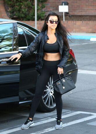top leggings sportswear kourtney kardashian kardashians sports bra