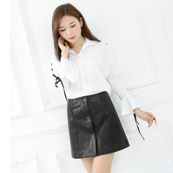 skirt women fashion fashion skirts leather skirt short skirt black skirt bodycon skirt slim skirt black sexy skirt