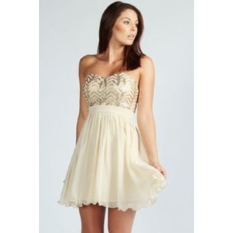 dress beige dress short prom dress sequined skater dress