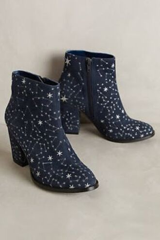 shoes stars sparkle blue botines
