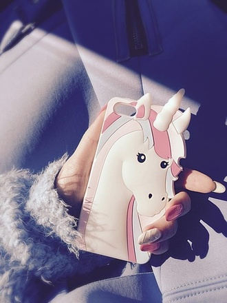 earphones unicorn iphonecase pastle rainbow color