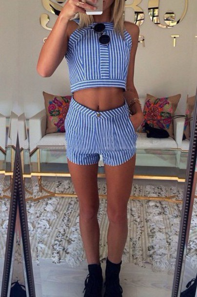 shorts top romper mynystyle stripes girly trendy sung sunglasses hippie