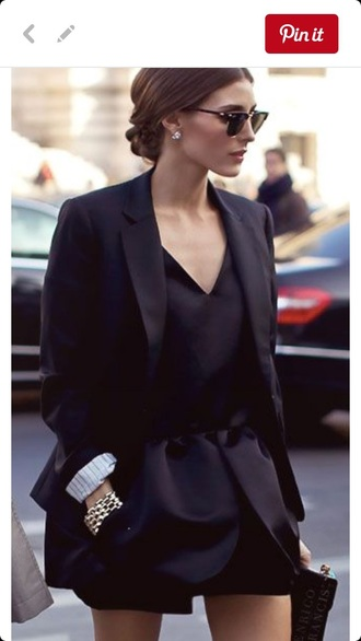dress black dress blazer little black dress style black top