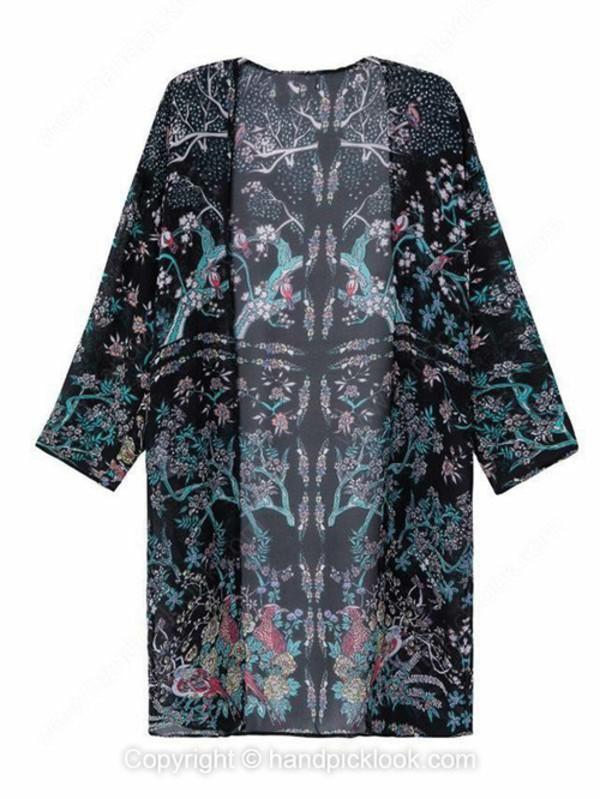 outerwear kimono coat