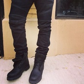 shoes,timberland,black,sneakers,perfect,love,fashion,jeans