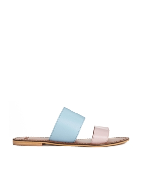 ASOS | ASOS FEDERAL Leather Sliders at ASOS