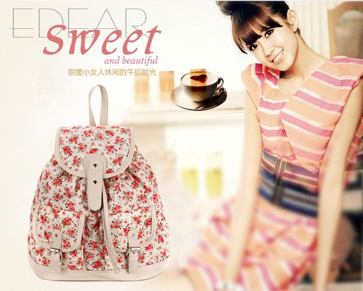 Aliexpress.com : Buy Brand Floral Designer Backpack Women Fashion Korean Style Travel Knapsack Free Shipping High Quality Canvas Hiking Rucksack from Reliable rucksack school suppliers on dreamhouse business