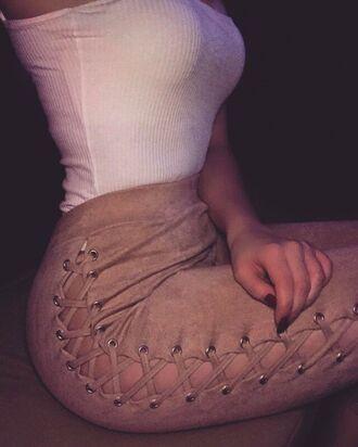 jeans pants plus size baddies instagram tie up lace