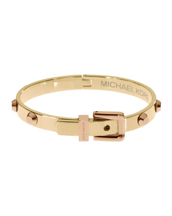 Michael Kors Two-Tone Astor Bangle, Golden/Rose Golden - Michael Kors