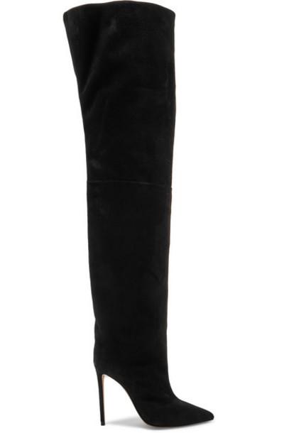 Alexandre Vauthier - Alex Suede Thigh Boots - Black