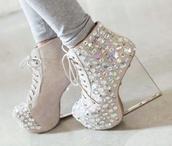 shoes,wedge booties,heels
