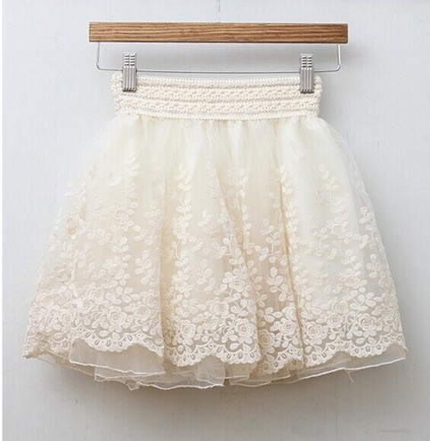 Woman fashionlace embroidery pleated chiffon skirt s010 from foreverfashion on storenvy