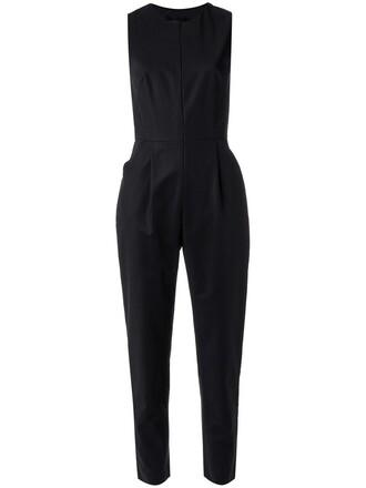 jumpsuit sleeveless women cotton black