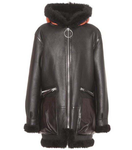 Acne Studios jacket leather jacket leather black