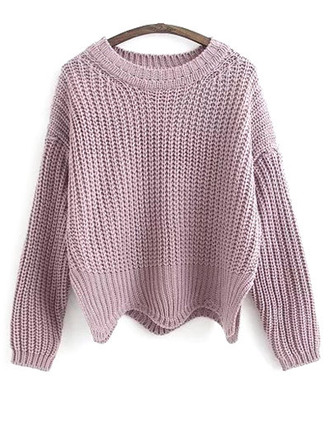 sweater pink fashion style trendy cool knitwear lilac fall outfits winter outfits zaful