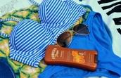 swimwear,blue,stripped