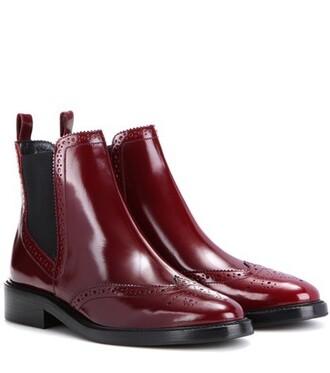 leather ankle boots boots ankle boots leather red shoes
