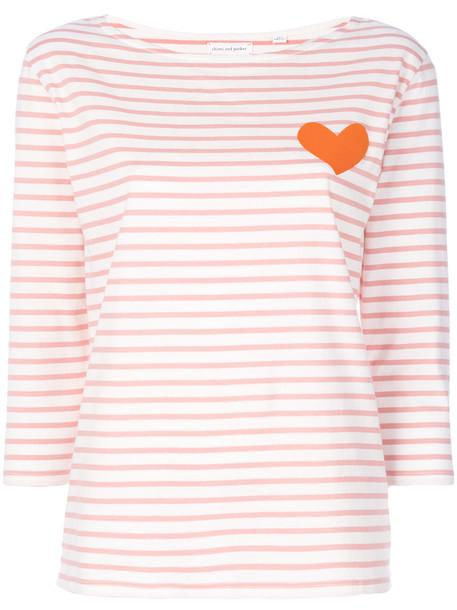 Chinti & Parker - heart top - women - Cotton - S, Pink/Purple, Cotton