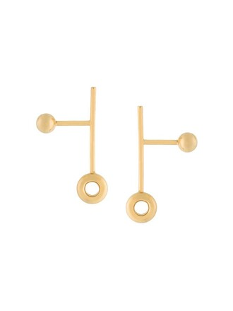 metallic women earrings jewels