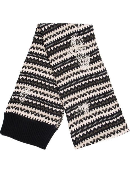 Lamberto Losani women scarf black knit pattern