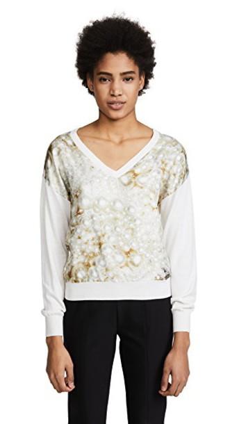 BOUTIQUE MOSCHINO sweater silk silver