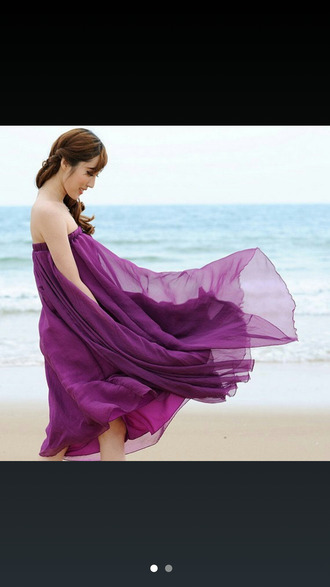 blouse purple dress long dress tube dress