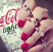 jewels,ring,rivet,cute,spikes,soike,gold,silver,crystal,rhinestones
