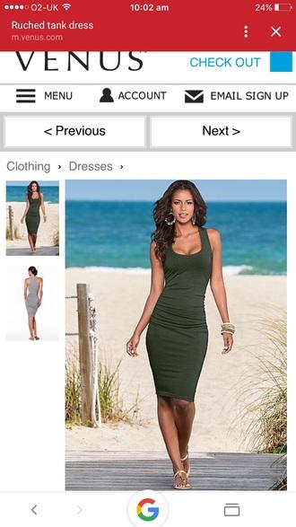 dress green dress bodycon dress midi dress