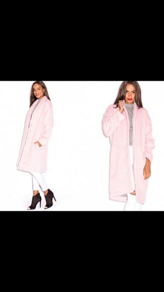 coat fur rose pink