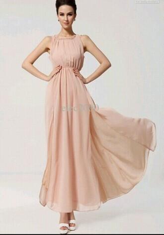 dress blush pink dress flowy dress elegant dress cute dress prom dress party dress