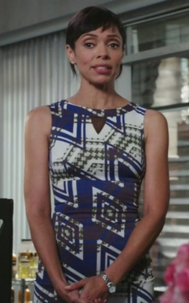 dress,bones tv show,tamara taylor,dr. camille saroyan,check print dress