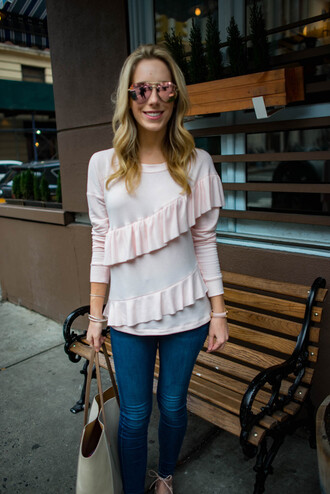 katie's bliss - a personal style blog based in nyc blogger sweater jeans bag jewels