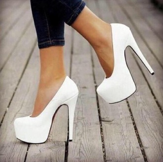 shoes hot white stillettos