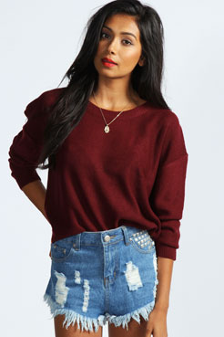 Jennie Fine Gauge Jumper at boohoo.com
