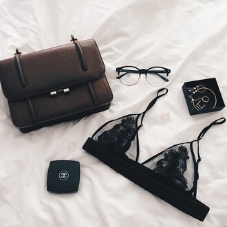 sunglasses glasses bralette lace bralette black underwear
