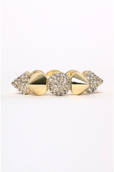 OMG Spike Bracelet GOLD from Love Melrose