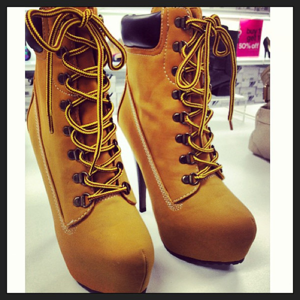 shoes timberlands high heels