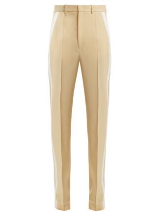 wool light yellow pants