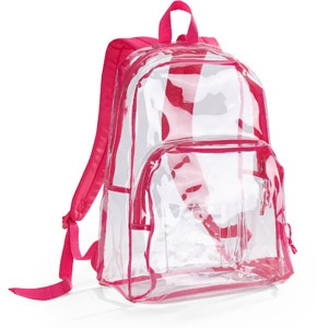 "Walmart: eastsport 17.5"" clear with pink trim backpack"