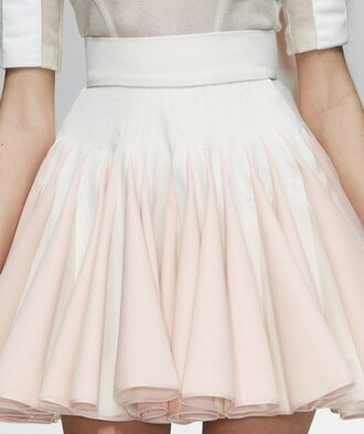 skirt white pink pastel pink skirt light pink skirt white and pink skirt sweet cute pleat skirt pleated skirt