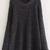 Black Round Neck Loose Knit Sweater -SheIn(Sheinside)