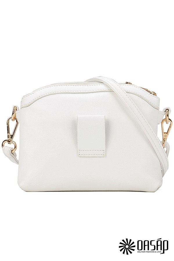 Icon Solid PU Shoulder Bags - OASAP.com