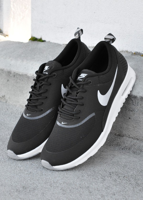 shoes whitetick nike nikeair air max nike air max thea nikes sports shoes blackandwhiteshoes