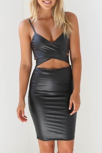 dress zaful grey dress leather dess girl girly girly wishlist leather leather dress bodycon bodycon dress black