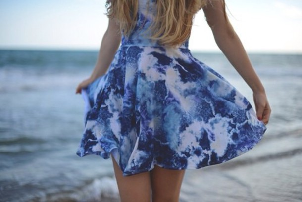 dress blue dress multicolor cute dress wow