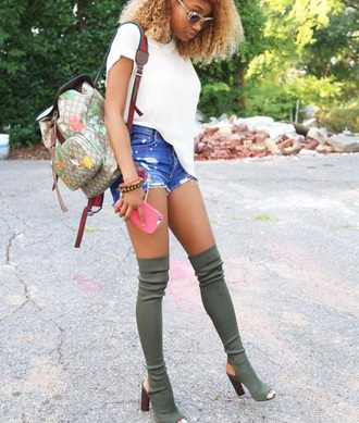 shoes knee high boots thigh high boots green