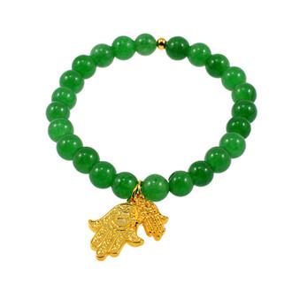 jewels gold anarchy street beaded bracelet charm bracelet bracelets hamsa hamsa hand hamsa bracelet gold bracelets emerald braclet emerald beads